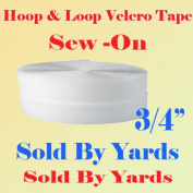 1.9cm (1.9cm ) Width Sold By Yard Black Sew on Hook & Loop - White Premium Grade Non-adhesive Sew-on Style Sold Includes Hook and Loop Both Side Interlocking Tape