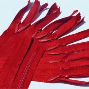 60cm Unique Invisible Zipper ~ YKK Conceal Zipper ~ 059 Candy Apple Red