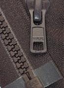 46cm Vislon Zipper ~ YKK #5 Moulded Plastic ~ Separating - 917 Dark Chocolate Brown