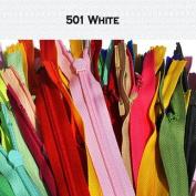 Unique Invisible Zipper 70cm YKK Colour 501 White