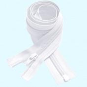 YKK #5 Nylon Coil Separating Zippers - White 36cm