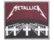 METALLICA Iron On Sew On Embroidered Patch 3.4Approx