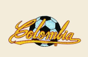 Soccer Ball Colombia Logo Embroidered Iron on or Sew on Patch