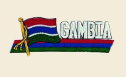 Gambia Logo Embroidered Iron on or Sew on Patch