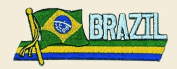 Brazil Logo Embroidered Iron on or Sew on Patch