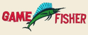Game Fisher Logo Embroidered Iron on or Sew on Patch