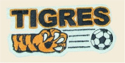 Tigres Logo Embroidered Iron on or Sew on Patch