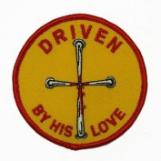 Driven By His Love Logo Embroidered Iron on or Sew on Patch