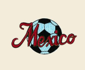 Soccer Ball Mexico Logo Embroidered Iron on or Sew on Patch
