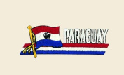 Paraguay Logo Embroidered Iron on or Sew on Patch