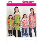 Simplicity 1707 Child's and Misses' Aprons Sewing Pattern, Size A