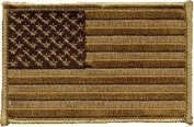 US Desert Brown iron-on embroidered patch