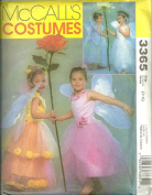 Childrens And Girls Flower Fairy Costumes McCall's Sewing Pattern 3365