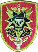 Mac Sog Vietnam Skull Logo Embroidered Iron on Patch