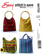 McCall's 4753 Sewing Pattern Fashion Accessories Bags Purse