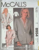 MISSES JACKET SIZE 20 BUST 42 EASY FIT MADE-FOR-YOU VINTAGE MCCALLS PATTERN 8954 WITH personalised INSTRUCTIONS