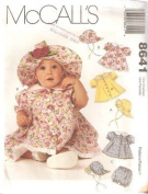McCall's Sewing Pattern 8641 Baby Dress, Hat & Panties,
