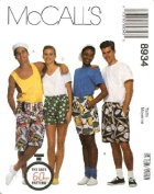 McCall's Sewing Pattern 88934 Boxer Shorts in 3 Lengths, Size SM (34 1/2, 36), The Easy 60 Minute Pattern