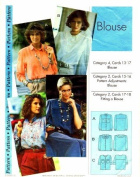 Step by Step Sewing Pattern Front Button Blouse Size 4 - 22