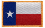Texas iron-on embroidered patch