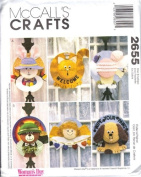 McCall's 2655 Crafts Sewing Pattern Straw Hat Wreaths