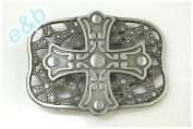 Brand:e & b Western Gothic Cross Enamelled Nice Belt Buckle Wt-061as