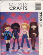 McCall's Crafts Sewing Pattern 3700 - Use to Make - 36cm Stuffed Funky Fashion Dolls and Clothing