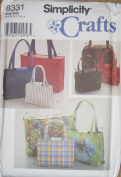 Simplicity Pattern #8331 ~ Handbags in Two or Three Sizes and Tote