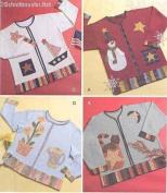McCall's 4735 Crafts Sewing Pattern Seasonal Appliques Snowman Pumpkin Sailboat
