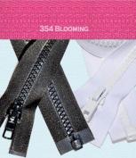 60cm Vislon Zipper ~ YKK #5 Moulded Plastic ~ Separating - 354 Blooming Pink