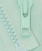 60cm Vislon Zipper ~ YKK #5 Moulded Plastic ~ Separating - 823 Light Mint