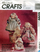 Countyr Novelty Hair Dolls And Babies McCalls Craft Sewing Pattern 6099