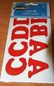 Wrights Bondex Red Letters - Iron On