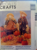 McCall's Crafts #7808 Girl, Boy 50cm Scarecrows and Pumpkins in three sizes