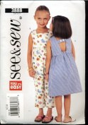 Butterick See & Sew Sewing Pattern 3888 - Children's / Girl's Dress and Romper