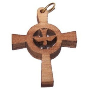 Holy Spirit Olive wood Dove Cross Laser