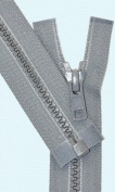 60cm Vislon Zipper ~ YKK #5 Moulded Plastic Sport Zipper ~ Separating - 578 Medium Grey