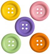 Jesse James - Dress It Up Buttons - Big Ol Buttons Primary
