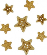 Jesse James - Dress It Up Buttons - Gold Star Combo