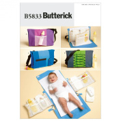 Butterick Patterns B5833 Nappy Bag and Changing Pad, One Size