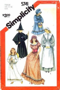 Simplicity 5741 Sewing Pattern Angel Witch Pilgrim Colonial Prairie Costumes Size 14 - 16