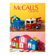 McCall Pattern Company M6806 Toy Storages Sewing Template, One Size Only