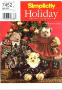 Simplicity 7452 Holiday Sewing Pattern 18 and 60cm Bear and Clothes
