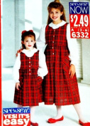 BUTTERICK Sewing Pattern 6332 ~ Girl's Easy To Sew Jumper Top (Size 2-6) Matching Sisters