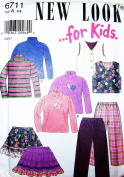 NEW LOOK Sewing Pattern 6711 ~ (Size 3-8) Simplicity Top, Vest, Skirt, Pants,