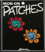 Pair of Laughing Daisies Iron On Applique Patch EP295