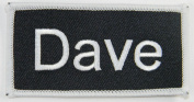 Name Tag Dave Iron On Uniform Appilque Patch