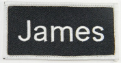 Name Tag James Iron On Uniform Appilque Patch