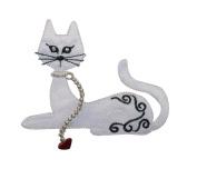 ID #2877 Cat Kitty Kitten Iron On Applique Patch
