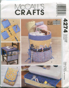 McCall's 4274 Crafts Sewing Pattern Fat Quarters Organisers Pincushion
